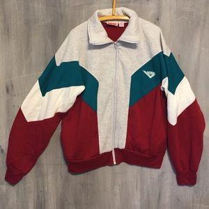 VIntage 80s PONY Color Block Sweatshirt Jacket XL